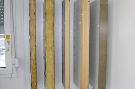 Sectional view of insulation